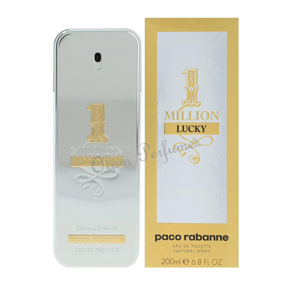 Paco Rabanne 1 Million Lucky Men EDT Spray 6.7oz 200ml